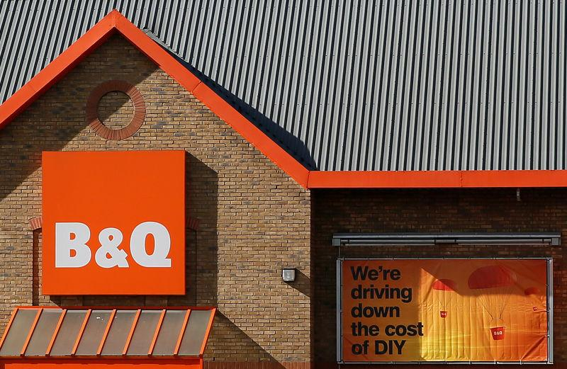 FILE PHOTO: Photo of a B&Q store in London