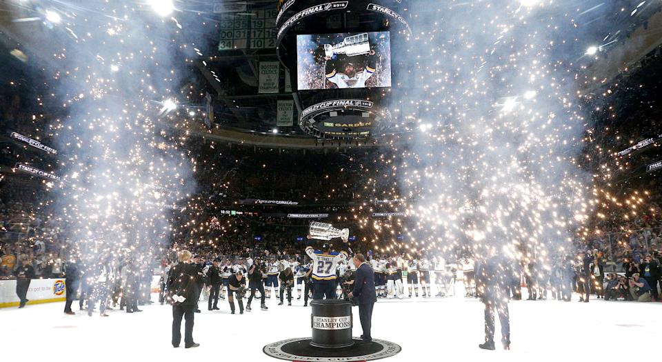 The St. Louis Blues are Stanley Cup champions. That seemed impossible not too long ago. (Getty)