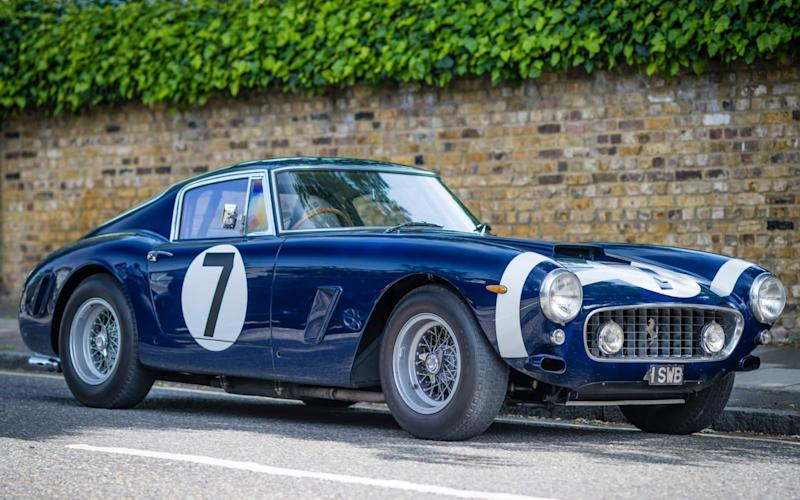 The Ferrari 250 GT SWB in which Stirling Moss famously won the 1960 Goodwood TT race forms part of the exhibition at the Design Museum - Andrew Crowley