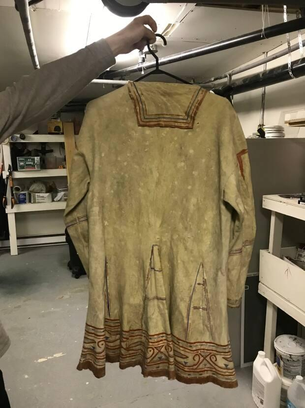 This caribou coat dating to 1913 was discovered in a freezer in North West River, Labrador. (Labrador Heritage Society Museum - image credit)