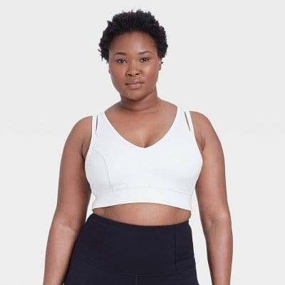 <p>This cute <span>All in Motion Light Support V-Neck Brushed Bra</span> ($20) doubles as a crop top and comes in a bunch of colors.</p>