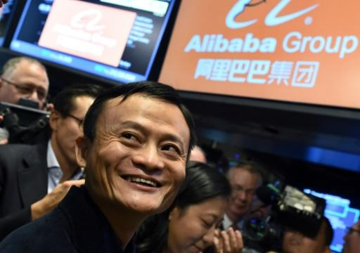Alibaba founder Jack Ma on the first day of trading for Alibaba on the New York Stock Exchange in 2014. Strict rules essentially prevented the first wave of unicorns from listing in China