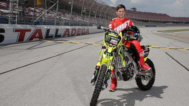 PHOTO: Alex Harvill poses before an motorcycle event at the Talladega, Ala. (Marvin Gentry/USA Today Sports)