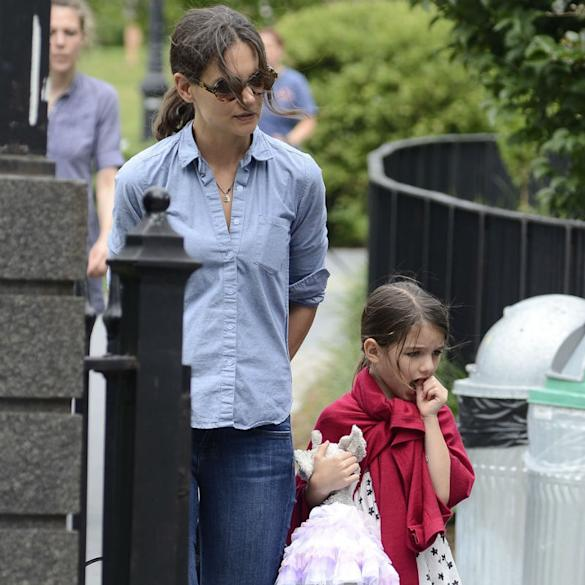 Katie Holmes Won't Continue to Spoil Suri: 'She Wants Her To Be Like The Other Kids At School'