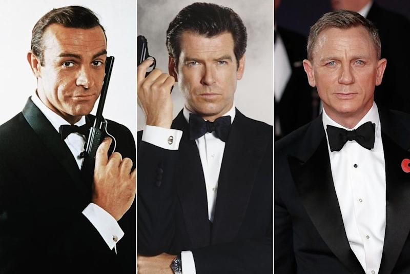 James Bond through the years | Getty Images; Keith Hamshere/Getty Images; John Phillips/Getty Images