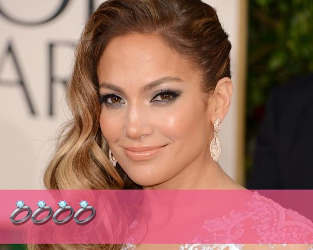 "<p><strong>Engagements:</strong> 4<br><strong>Marriages:</strong> 3<br><strong>Current status:</strong> Dating former MLB star <a href=""https://www.yahoo.com/entertainment/j-lo-rod-working-hard-blend-families-tie-knot-170311402.html"" data-ylk=""slk:Alex Rodriguez"" class=""link rapid-noclick-resp"">Alex Rodriguez</a>.<br>(Photo: Getty Images) </p>"