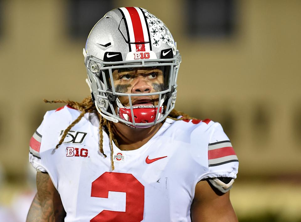Chase Young #2 of the Ohio State Buckeyes looks on during a game against the Northwestern Wildcats on Oct. 18, 2019. (Quinn Harris/Getty Images)