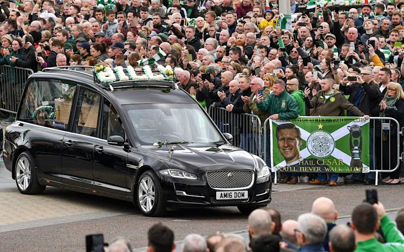 The funeral cortege in Celtic Way - Getty Images Europe