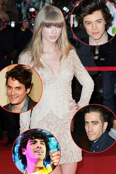 "We're not actually sure if Taylor Swift loves her boyfriends or just loves writing songs about how poorly they've treated her. Either way, TSwift has racked up almost as many #1 hits as she has beaus. After being jilted by Joe Jonas, the country cutie mended her broken heart with fellow heartbreaker, John Mayer. Their love story didn't last long, so Swifty wrote him a ""Dear John"" letter that was played to the world. The singer has also been linked with Taylor Lautner, Jake Gyllenhaal, and Conor Kennedy, but those relationships had unhappy endings as well. Swift's latest conquest, One Direction singer Harry Styles, ditched the songbird after a few short months. Seems TayTay is still looking for her Prince Charming!"