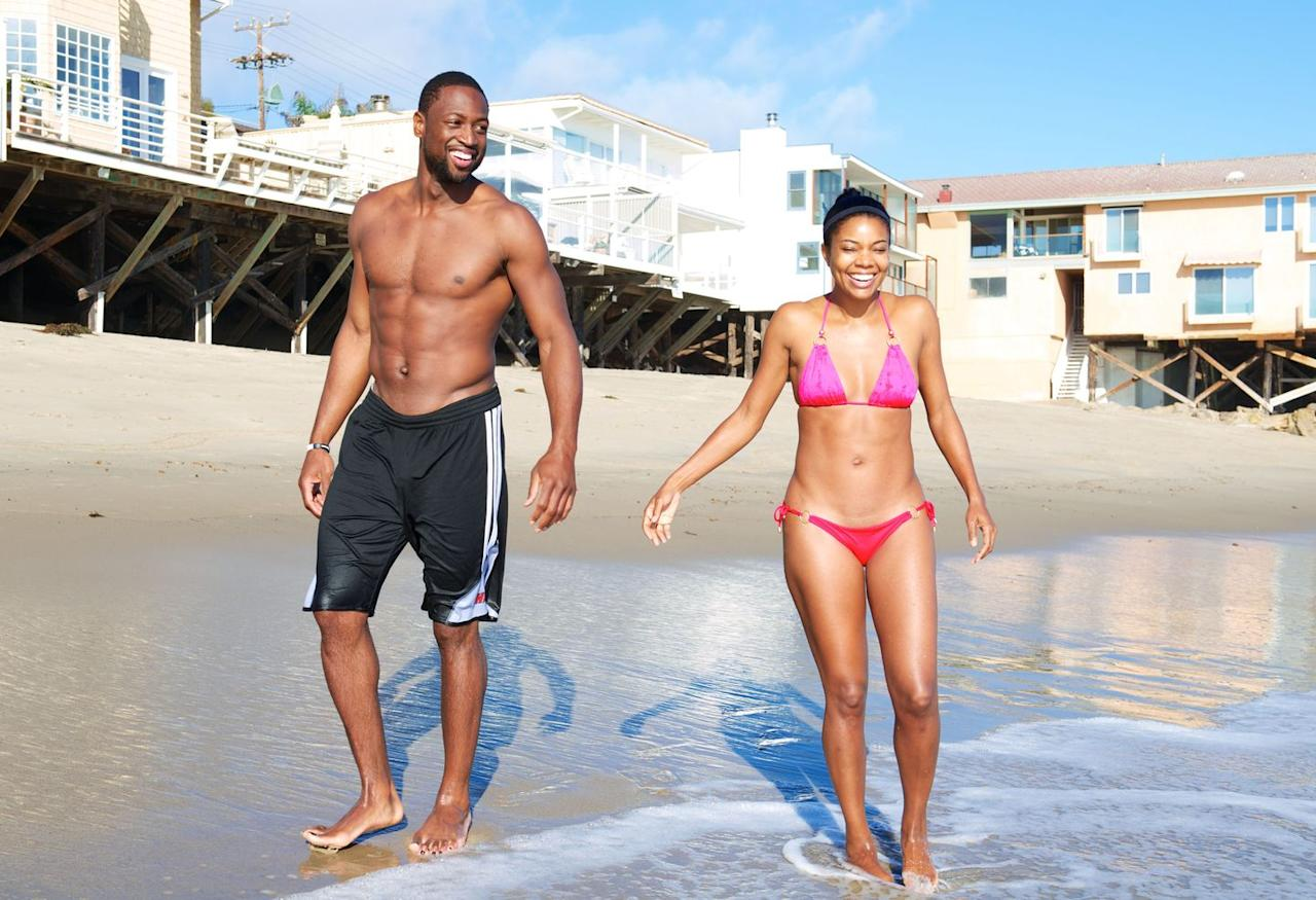 """<p>Known for their """"<a href=""""https://www.menshealth.com/fitness/a23873861/dwyane-wade-gabrielle-union-couples-workout/"""" target=""""_blank"""">Wade-Union Partner Workouts</a>,"""" this fit couple loves hitting the gym as a team—so much so that they even spent time there on their fourth anniversary. <a href=""""https://www.instagram.com/p/BnHeEBxgs30/"""" target=""""_blank"""">Union said on Instagram</a>: """"Teamwork makes our dreams work. 4 years down and a lifetime ahead.""""</p>"""