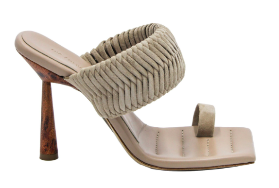 Gia Couture x RHW 1 Toe-Ring Suede Sandals. - Credit: Courtesy of Intermix