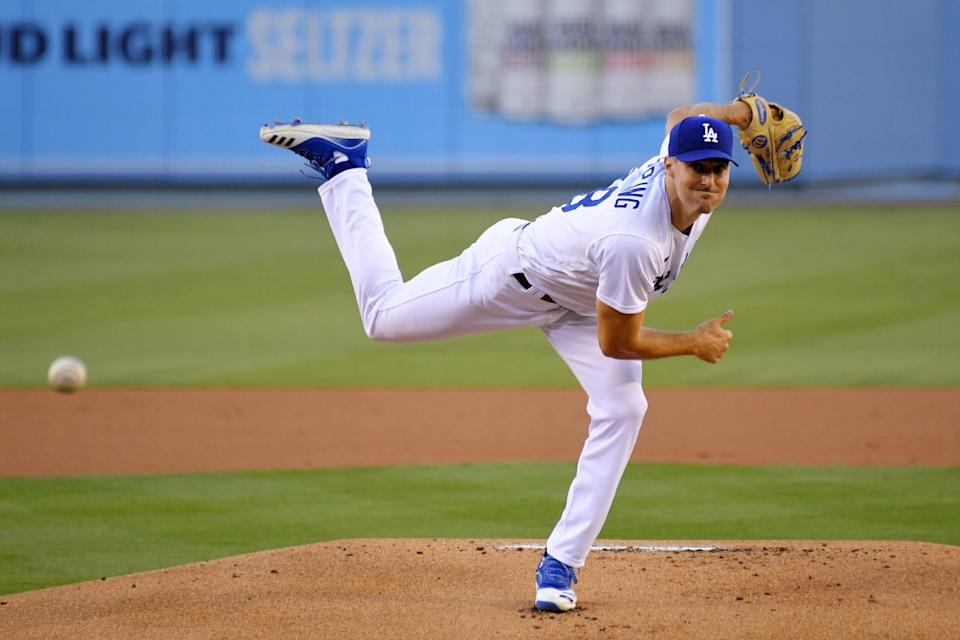 Dodgers starting Ross Stripling throws against the San Diego Padres on Tuesday.