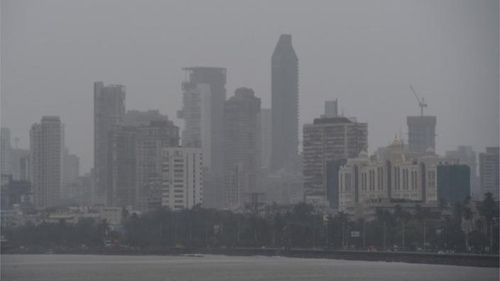 India's most populous city has seen strong winds but was spared the worst