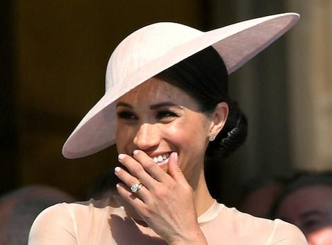 duchess sussex engagement ring - Credit: Dominic Lipinski/Pool via Reuters/File Photo
