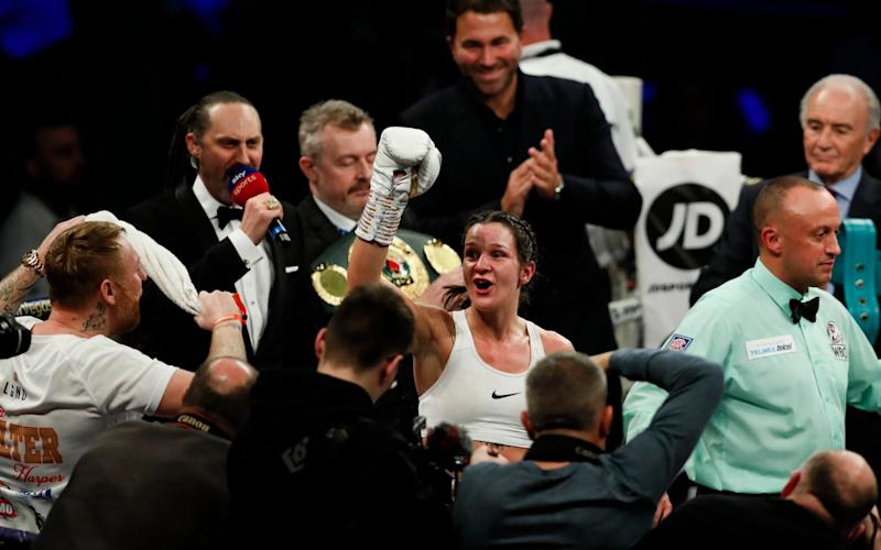Terri Harper claimed the WBO super featherweight title in Sheffield earlier this month - Getty Images