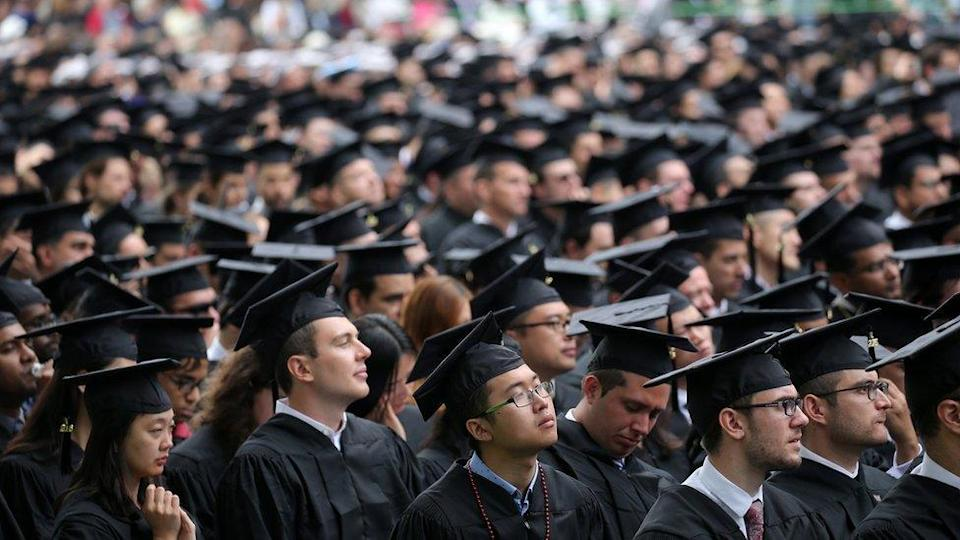 Graduates in the audience at the Massachusetts Institute of Technology's commencement in Cambridge, Mass. on June 3, 2016