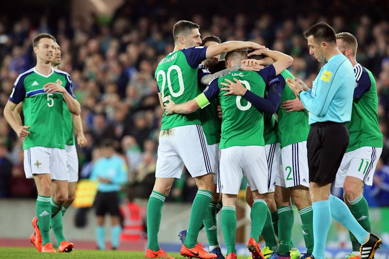 Northern Ireland went back to second in the group behind Germany: Getty