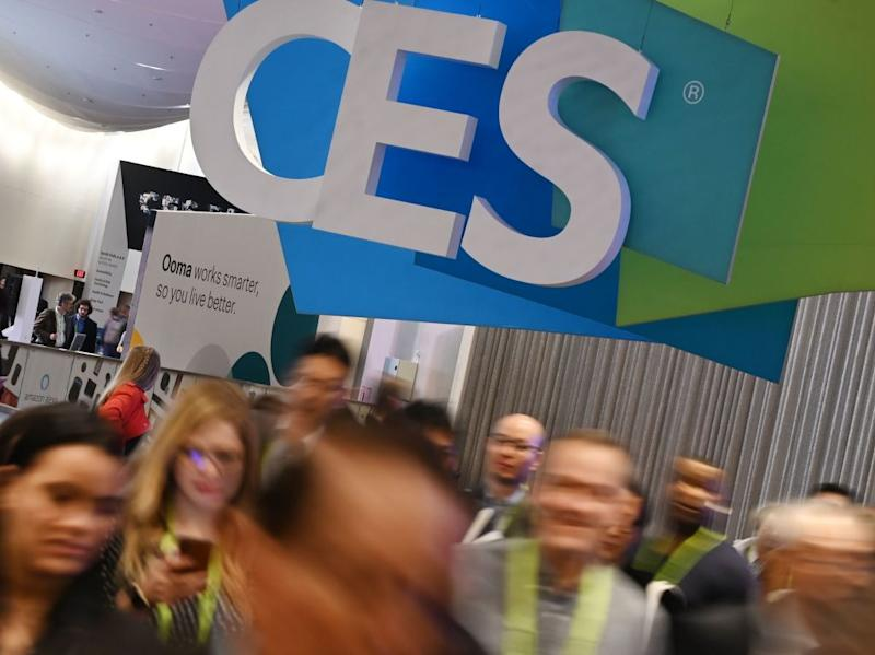 Attendees walk through the hall at the Sands Expo Convention Center during CES 2019 consumer electronics show, on January 10, 2019 in Las Vegas, Nevada. (Photo by Robyn Beck / AFP) (Photo credit should read ROBYN BECK/AFP via Getty Images)