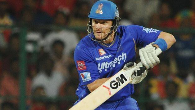 Shane Watson in action for RR in the IPL Raha