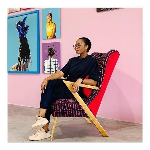 "<p>Based in Nigeria, Tosin Oshinowo crafts furniture using locally sourced wood and indigenous Yoruba textiles. </p><p><a href=""https://www.instagram.com/p/B-hO-Gmly8u/"" rel=""nofollow noopener"" target=""_blank"" data-ylk=""slk:See the original post on Instagram"" class=""link rapid-noclick-resp"">See the original post on Instagram</a></p>"
