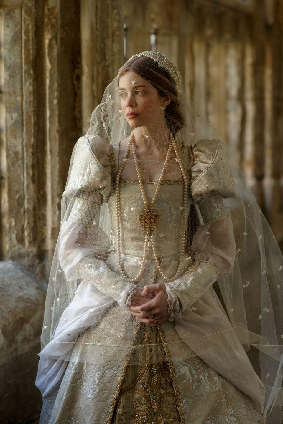 """<p>If you're already subscribed to Starz, may we suggest checking out <em><a href=""""https://www.townandcountrymag.com/leisure/arts-and-culture/a27243818/how-to-watch-the-spanish-princess/"""" rel=""""nofollow noopener"""" target=""""_blank"""" data-ylk=""""slk:The Spanish Princess"""" class=""""link rapid-noclick-resp"""">The Spanish Princess</a></em>? The beautifully-shot series tells the story of King Henry VIII, but <a href=""""https://www.townandcountrymag.com/leisure/arts-and-culture/a27431875/spanish-princess-charlotte-hope-catherine-of-aragon-interview/"""" rel=""""nofollow noopener"""" target=""""_blank"""" data-ylk=""""slk:from the perspective of his first wife, Catherine of Aragon"""" class=""""link rapid-noclick-resp"""">from the perspective of his first wife, Catherine of Aragon</a>. Come for the historical drama, stay for a hunky version of King Hal (pre-gout, that is). </p><p><a class=""""link rapid-noclick-resp"""" href=""""https://www.amazon.com/The-Spanish-Princess-Catherine/dp/B07Q7W4FCS?tag=syn-yahoo-20&ascsubtag=%5Bartid%7C10067.g.28484672%5Bsrc%7Cyahoo-us"""" rel=""""nofollow noopener"""" target=""""_blank"""" data-ylk=""""slk:Watch Now"""">Watch Now</a></p>"""