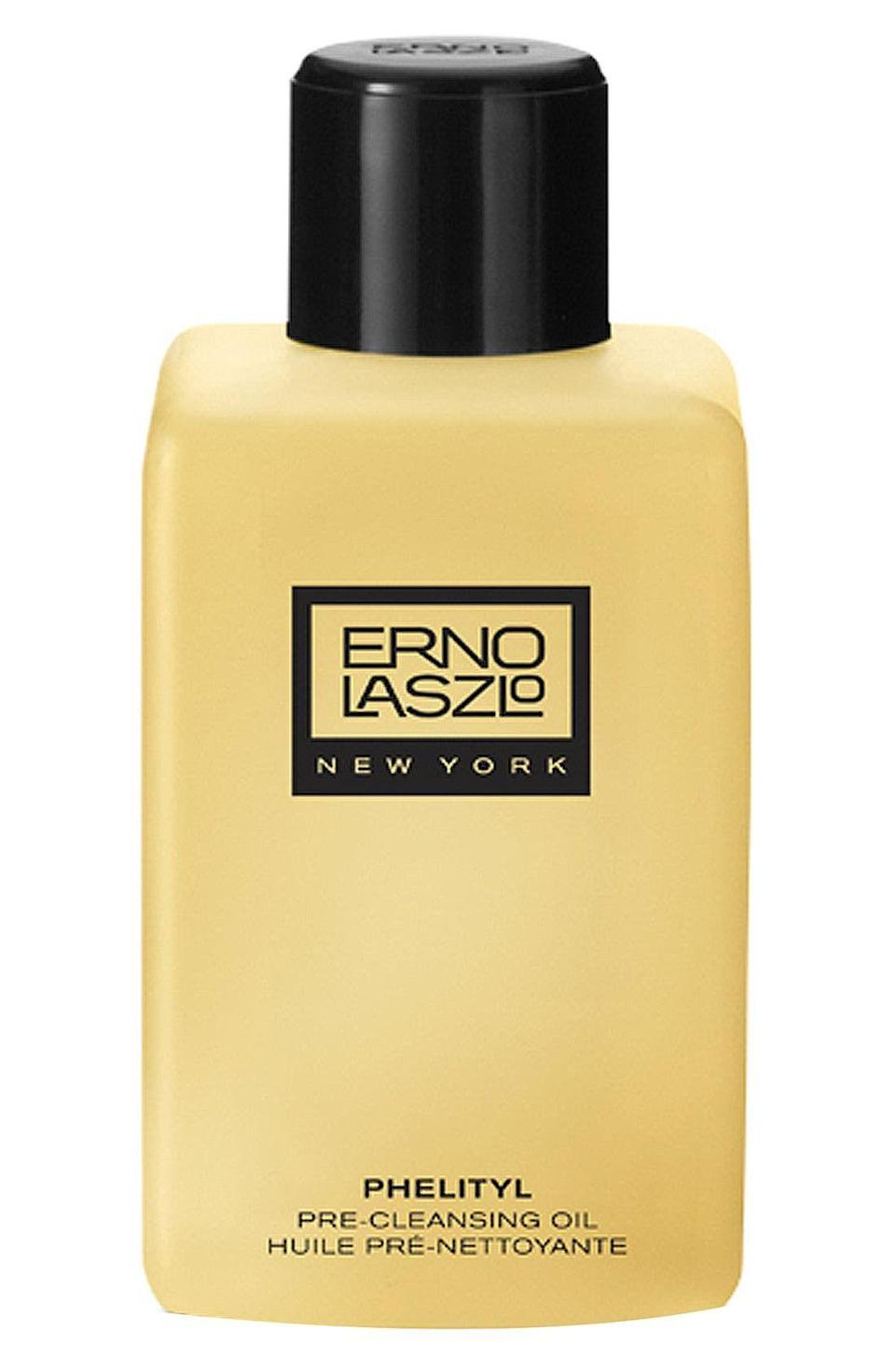 """<p><strong>Erno Laszlo </strong></p><p>nordstrom.com</p><p><strong>$64.00</strong></p><p><a href=""""https://go.redirectingat.com?id=74968X1596630&url=https%3A%2F%2Fwww.nordstrom.com%2Fs%2Ferno-laszlo-phelityl-pre-cleansing-oil%2F3337408&sref=https%3A%2F%2Fwww.redbookmag.com%2Flife%2Fg36459640%2F10-brands-jackie-kennedy-loved%2F"""" rel=""""nofollow noopener"""" target=""""_blank"""" data-ylk=""""slk:Shop Now"""" class=""""link rapid-noclick-resp"""">Shop Now</a></p>"""