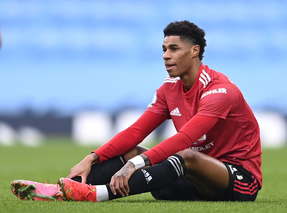 File photo dated 07-03-2021 of Manchester United's Marcus Rashford. Issue date: Wednesday July 14, 2021.