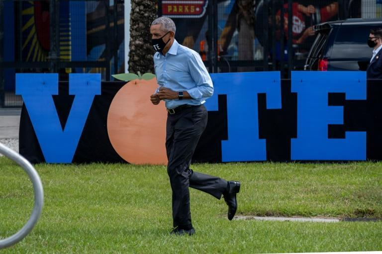 Former US president Barack Obama has stepped up to campaign for Democratic nominee Joe Biden on multiple occasions in the weeks before the election, including in Orlando, Florida on October 27, 2020