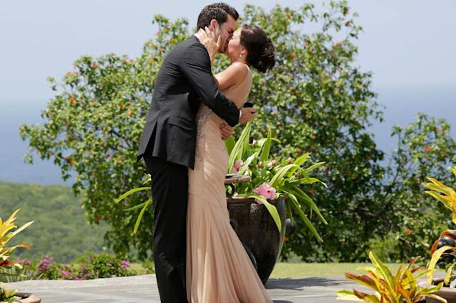 "In the dramatic second part of the Season Finale, Desiree Hartsock gave Chris Siegfried her final rose on ""The Bachelorette."""