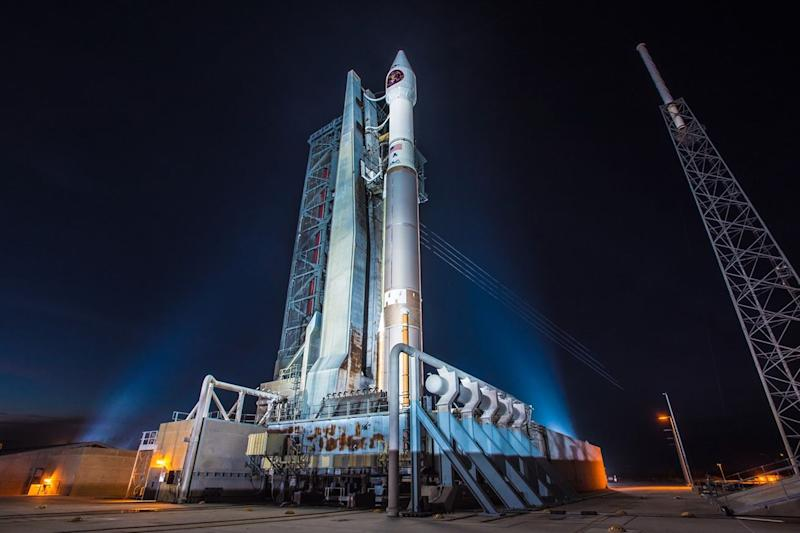 Watch an Atlas V rocket launch an infrared surveillance satellite