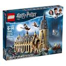 """<p><strong>LEGO</strong></p><p>amazon.com</p><p><strong>$87.99</strong></p><p><a href=""""https://www.amazon.com/dp/B07BKPKT2X?tag=syn-yahoo-20&ascsubtag=%5Bartid%7C10055.g.29551016%5Bsrc%7Cyahoo-us"""" rel=""""nofollow noopener"""" target=""""_blank"""" data-ylk=""""slk:Shop Now"""" class=""""link rapid-noclick-resp"""">Shop Now</a></p><p>For a bit <strong>more advanced building</strong>, this Great Hall LEGO set comes complete with house banners, a spiral staircase, a potions room and 10 minifigs. Once it's built out, your kids can re-create their favorite movie scenes, like dueling with Draco or checking the Mirror of Erised. <em>Ages 9+</em><br></p>"""