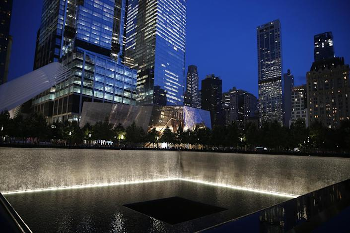 <p>One of the 9/11 Memorial and Museum pools in New York City on Sept. 8, 2016.(Gordon Donovan/Yahoo News) </p>