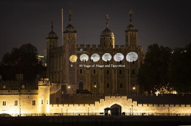 Royal Mint Queens 95th Birthday Projection