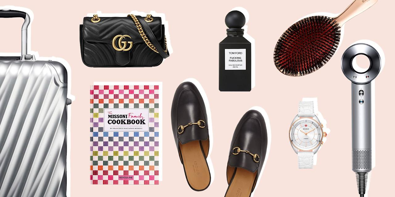 <p>If you're on the lookout for something truly impressive to gift this holiday season, a pair of socks and a popcorn tin just won't do. We made a list of the most splurgeworthy luxury gifts, from an air-powered Dyson curling iron to a designer tea kettle, that you'll be excited to spoil them with!<br></p>