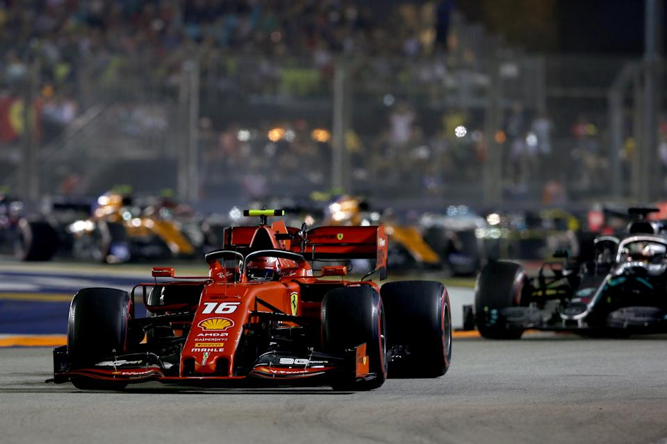 Action from the 2019 F1 Grand Prix of Singapore at Marina Bay Street Circuit.