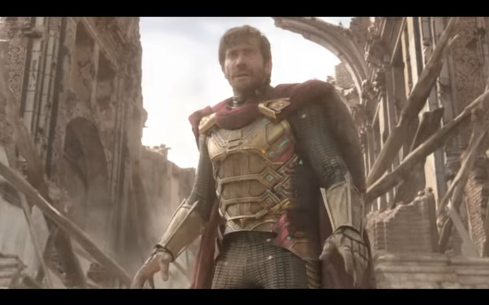 Jake Gyllenhaal plays the maybe-good, maybe-bad Mysterio in <em>Far From Home</em>. (Photo: Sony/YouTube)