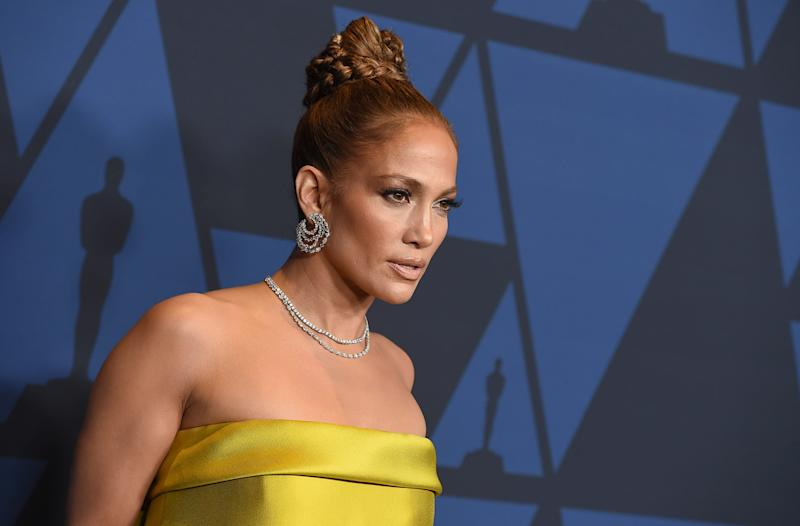 Jennifer Lopez arrives at the Governors Awards on Sunday, Oct. 27, 2019, at the Dolby Ballroom in Los Angeles.