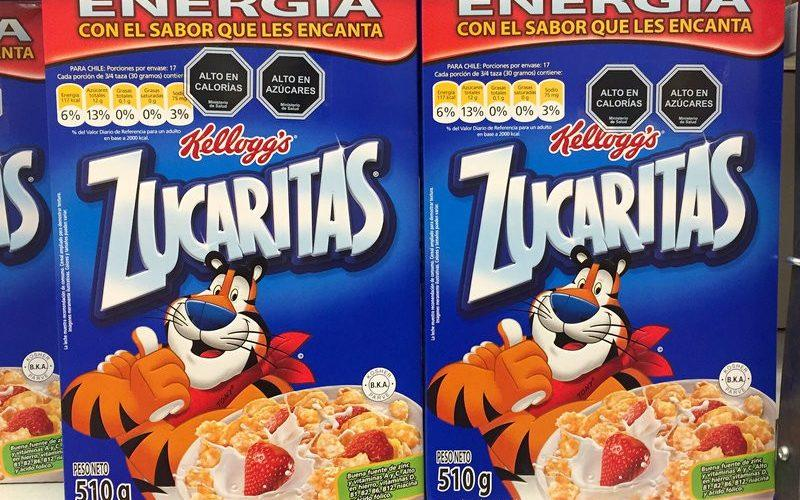 Nutritional warnings on cereal packs in Chile - Eileen Smith/News Scan
