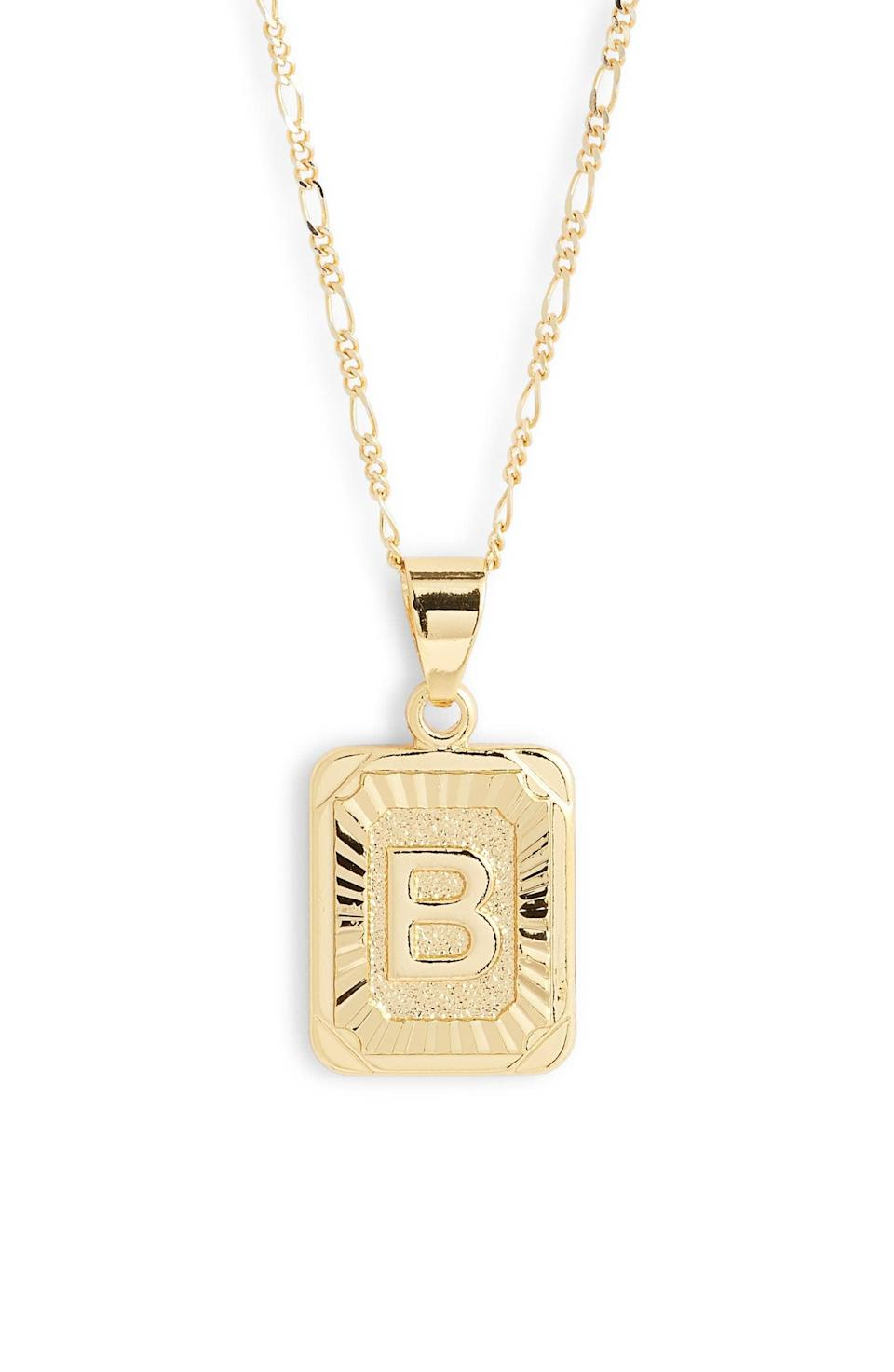 <p>Nothing makes a more special gift than a personalized piece of jewelry, like this <span>Bracha Initial Pendant Necklace</span> ($50).</p>