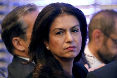 FILE PHOTO: Groupe Renault executive vice president Mouna Sepehri attends a news conference to unveil Renault next mid-term strategic plan in Paris, France, October 6, 2017. REUTERS/Charles Platiau/File Photo