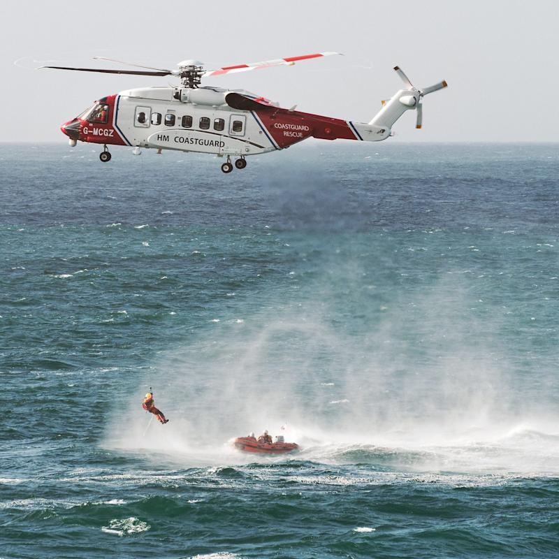 The RNLI lifeboat, Coastguard helicopter, beach lifeguards, police, air ambulance and ambulance crews attended the scene last August - Credit: Apex