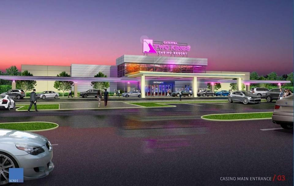 This is the most up-to-date rendering of the Catawba Indian Nation's planned Two Kings Casino and Resort Introductory Facility in Kings Mountain.