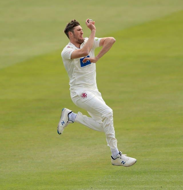 Craig Overton bowled Somerset back into their contest against Middlesex