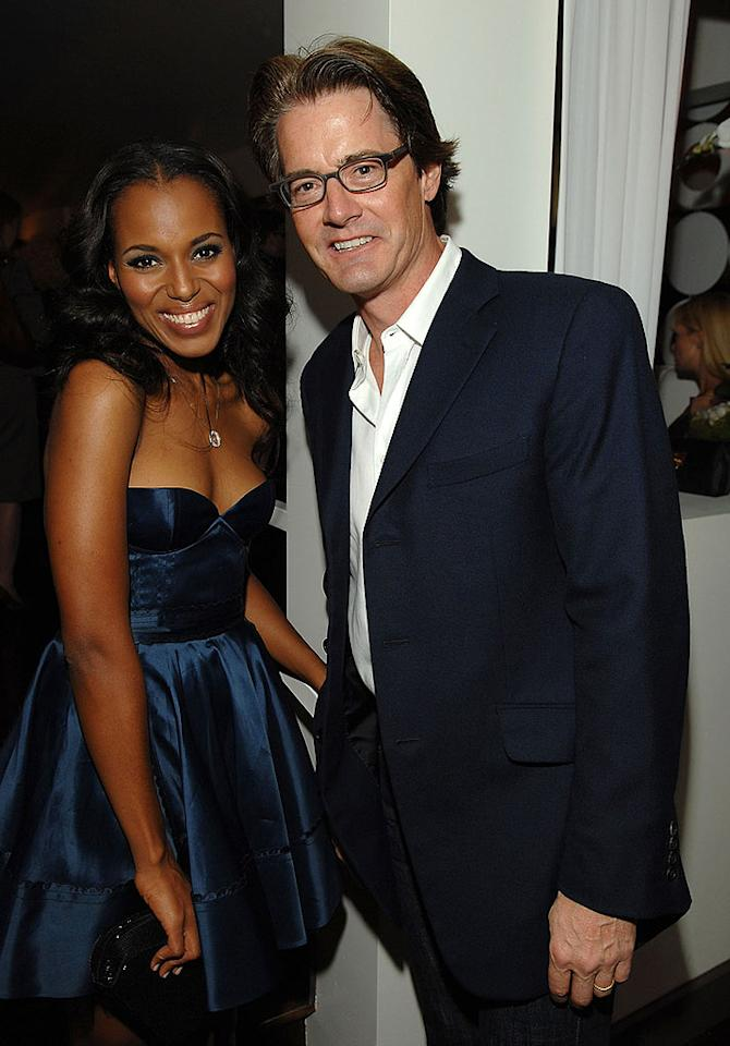 "Kerry Washington catches up with Kyle MacLachlan. Lester Cohen/<a href=""http://www.wireimage.com"" target=""new"">WireImage.com</a> - November 7, 2007"