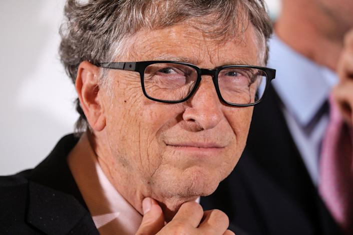 Close-up of Bill Gates at a conference