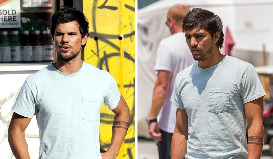 <p>Lautner may have honed his six-pack to play a werewolf in the 'Twilight' series, but that doesn't mean he's a skilled parkour merchant, which his character in 'Tracers' was required to be.</p><p>Gabriel Nunez was the one to don the T-shirt and boyband hairdo for the 2015 pic and did the same for Lautner in 'The Ridiculous 6'.</p>