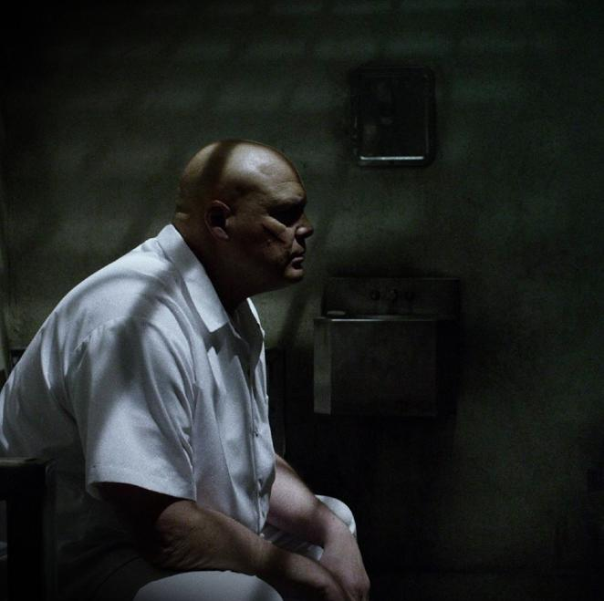 "Vincent D'Onofrio as ""Daredevil"" villain Kingpin, who might know a thing or two about prison-stress hair loss. (Photo: Netflix)"
