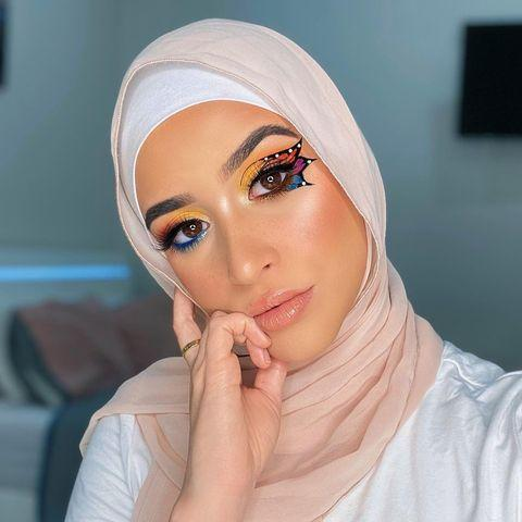 "<p>Hi, can we take a moment to admire the artistry behind this <a href=""https://www.cosmopolitan.com/style-beauty/beauty/a33806924/butterfly-makeup-tutorials/"" rel=""nofollow noopener"" target=""_blank"" data-ylk=""slk:butterfly makeup"" class=""link rapid-noclick-resp"">butterfly makeup</a>? Once you're finished, turn your attention to Rianne's other incredible work featured on IG, <a href=""https://www.tiktok.com/@riannemua?lang=en"" rel=""nofollow noopener"" target=""_blank"" data-ylk=""slk:TikTok"" class=""link rapid-noclick-resp"">TikTok</a>, and <a href=""https://www.youtube.com/c/RianneFarhat/featured"" rel=""nofollow noopener"" target=""_blank"" data-ylk=""slk:YouTube"" class=""link rapid-noclick-resp"">YouTube</a>. This makeup artist will definitely <strong>challenge you to try some bolder color combos</strong>.</p><p><a href=""https://www.instagram.com/p/CFXNfrEBT3z/?utm_source=ig_embed&utm_campaign=loading"" rel=""nofollow noopener"" target=""_blank"" data-ylk=""slk:See the original post on Instagram"" class=""link rapid-noclick-resp"">See the original post on Instagram</a></p>"