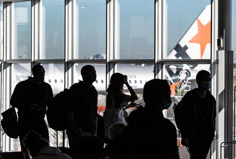 Investigators are interviewing contacts of an infected person who travelled to Ballina on a Jetstar flight. Source: AAP