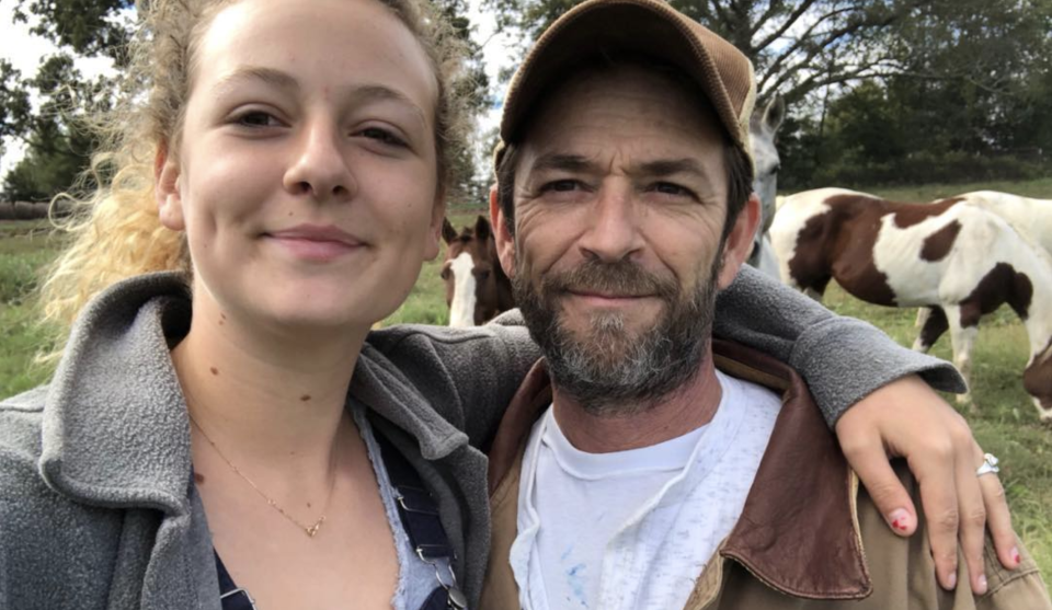 Sophie Perry with her late dad, Luke Perry. (Photo: Sophie Perry via Instagram)